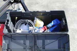 Argo water tank trailer tool box inside