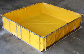 frame decontamination tanks