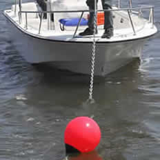 inflatable marker buoy