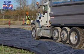 Mud trackout construction mats